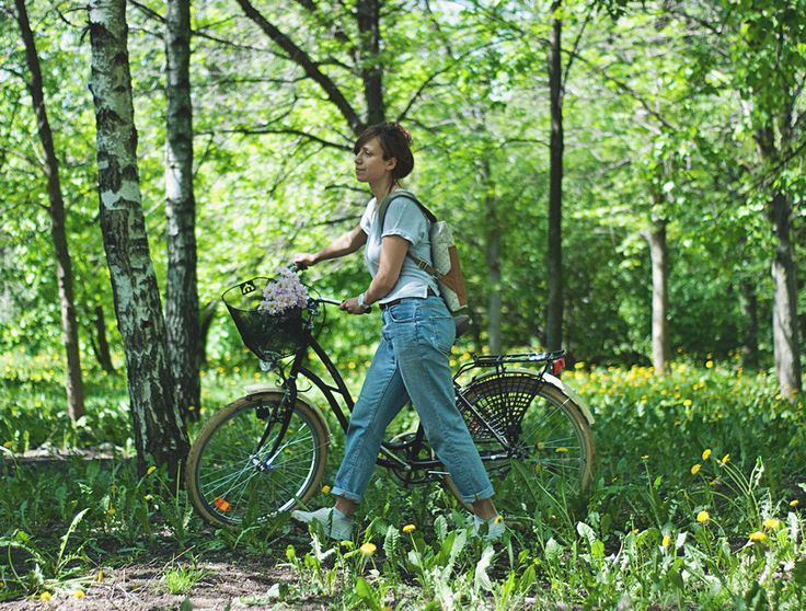 """Рюкзак """"Let's bike"""" в горошек"""
