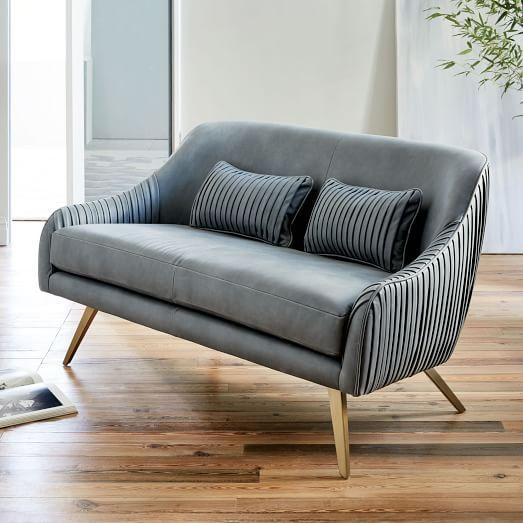 Roar + Rabbit Glamour Leather Sofa   West Elm