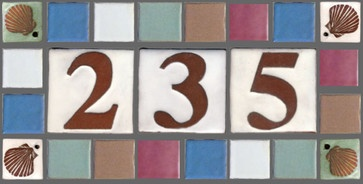 Coastal Tile Address Plaque - eclectic - house numbers - clayworks
