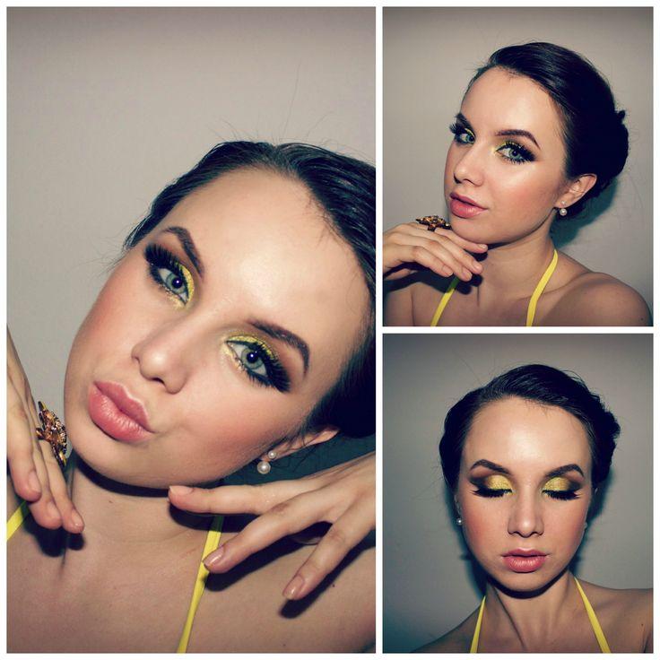 summer yellow eyeshadow makeup