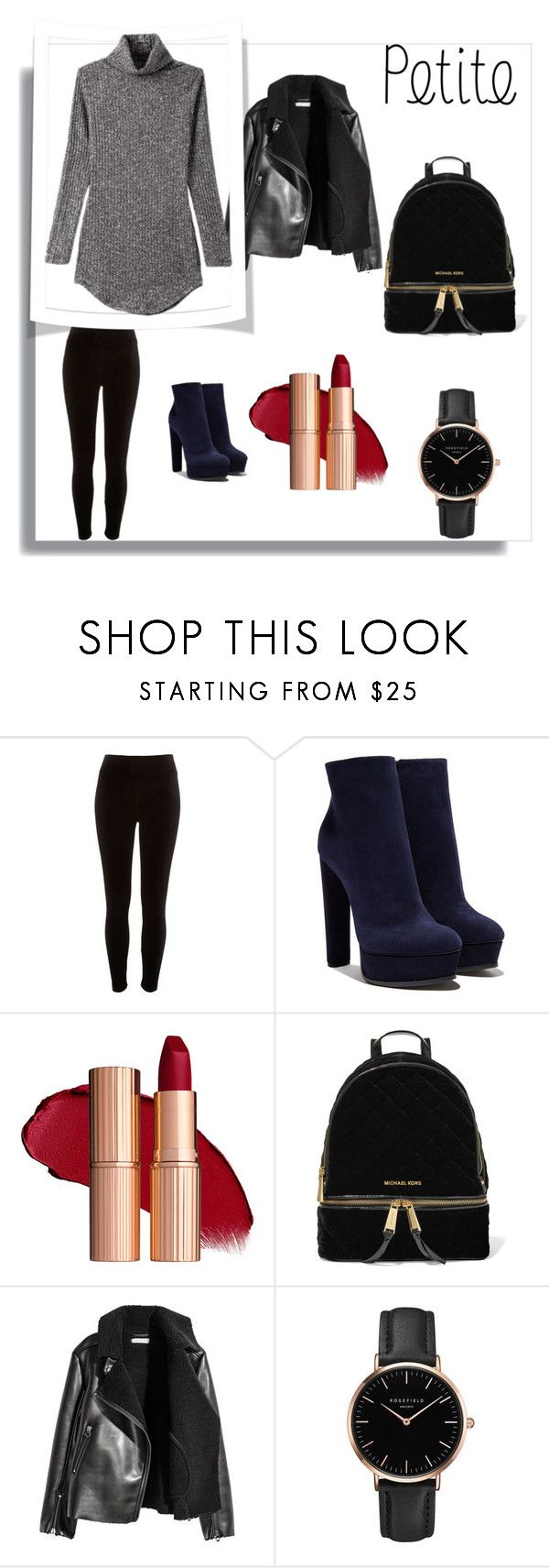Winter fashion for the curvy petite by saphronlondon on Polyvore featuring River Island, Casadei, MICHAEL Michael Kors and Topshop