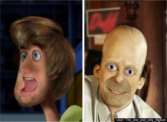 Cartoon Characters Real Life : Untooned cartoon characters in real life pictures