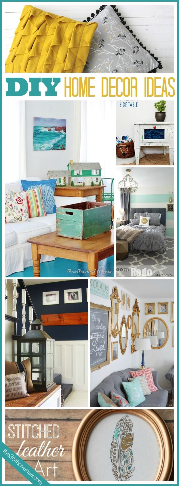 20 fresh, trendy,  affordable, and easy DIY Home Decor Ideas. Time to bring color back! #home #diy