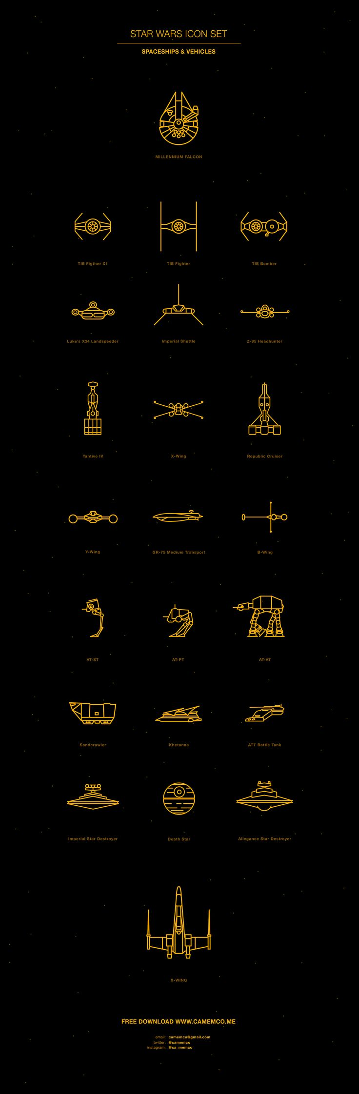"""Star Wars Vectors"" by Carolina Mem Correa de Sa, from Brussels, Belgium 