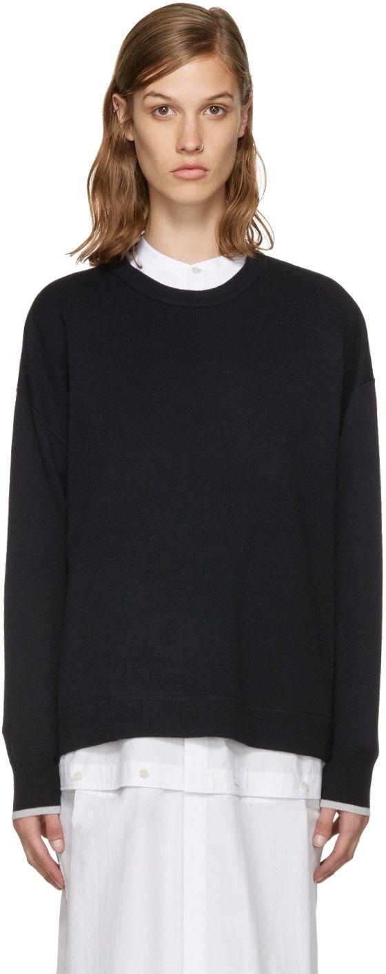 ENFÖLD Navy Wool Sweater. #enföld #cloth #sweater