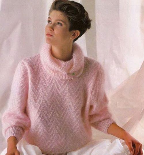 Пуловер из мохера для женщин