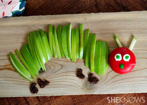 Hungry caterpillar fruit shapes