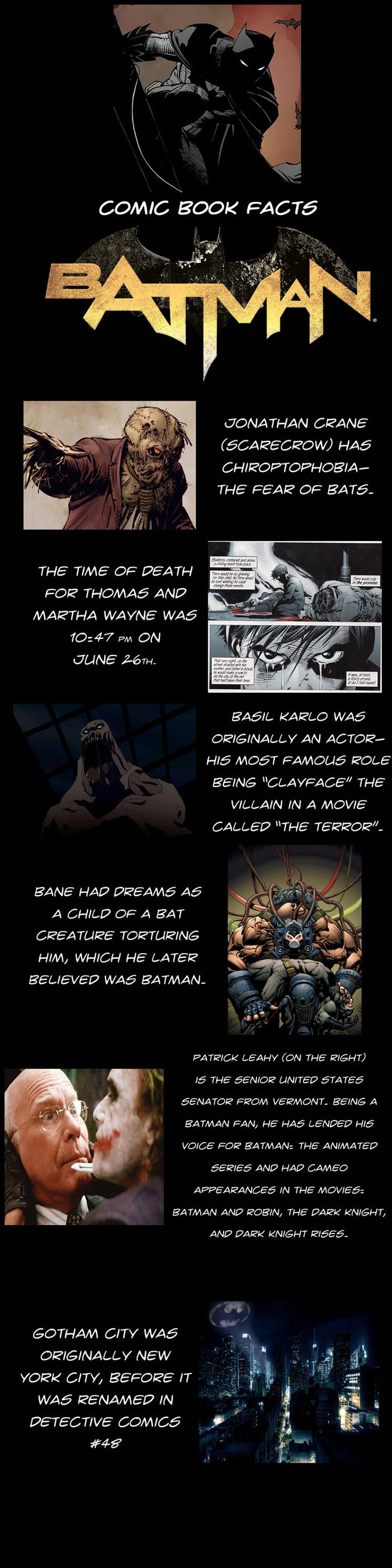 Interesting Batman Facts!!