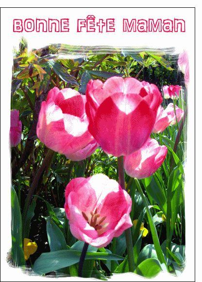 Carte Bonne fête maman au pinceau pour envoyer par La Poste, sur Merci-Facteur !