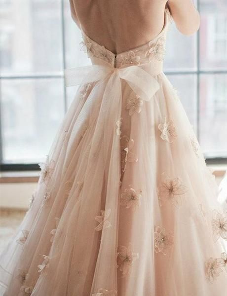 Chic A Line Sweetheart Pink Tulle Evening Dress with Appliques Sashes