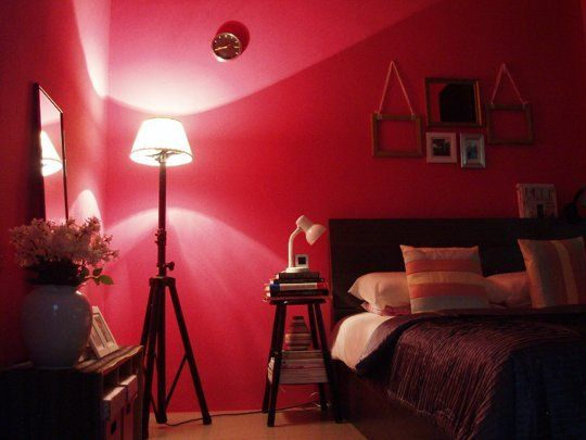 ross hot pink bedroom - Bedroom Colors Red