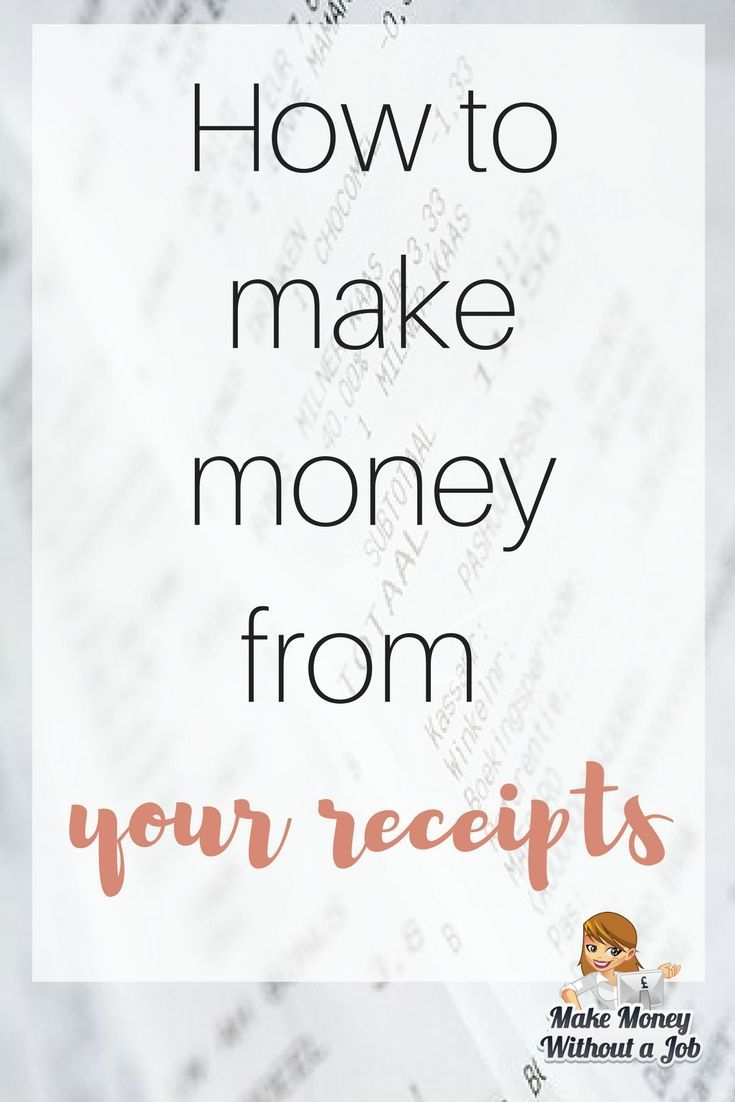 How to make money from your receipts