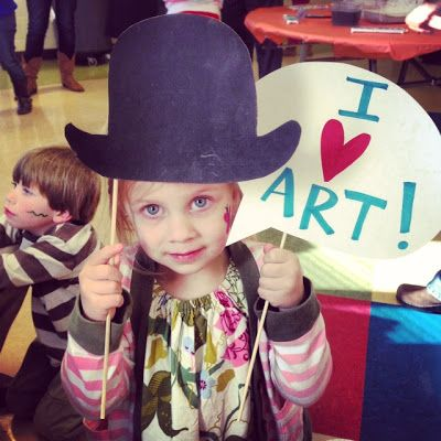 Family Art Night and Silent Auction:  it's an HSES Arty Party!:
