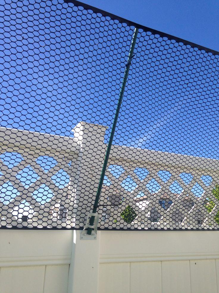 Cat Proof Fence Flag Post Bracket Regular Size Garden