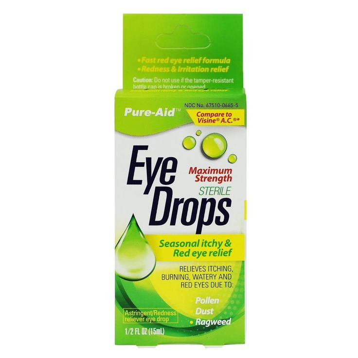 Pure-Aid Seasonal itchy & Red Eye Relief Eye Drop, 0.5 oz