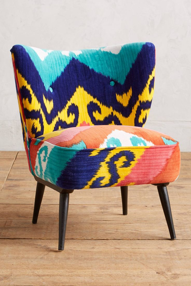 Turquoise ikat chair - Marialle Ikat Occasional Chair