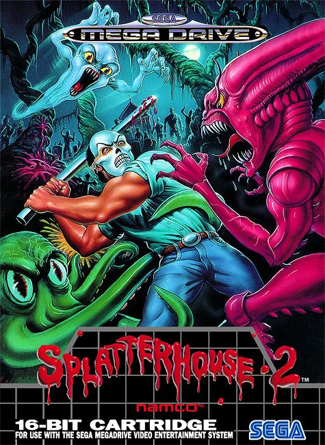 Splatterhouse 2 Sega Genesis Mega Drive box art