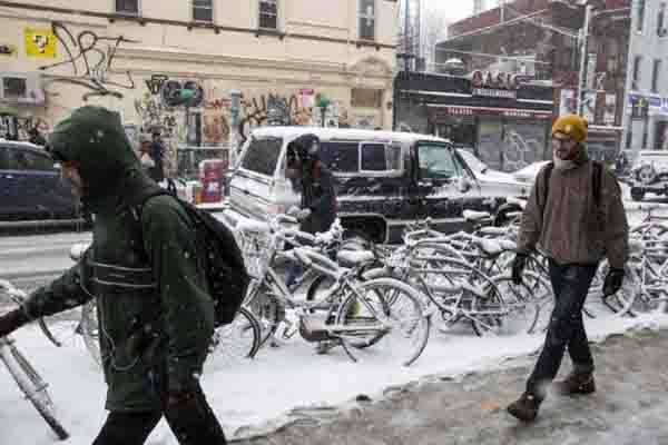 Egy újabb hóvihar érte el észak Amerika keleti partjait