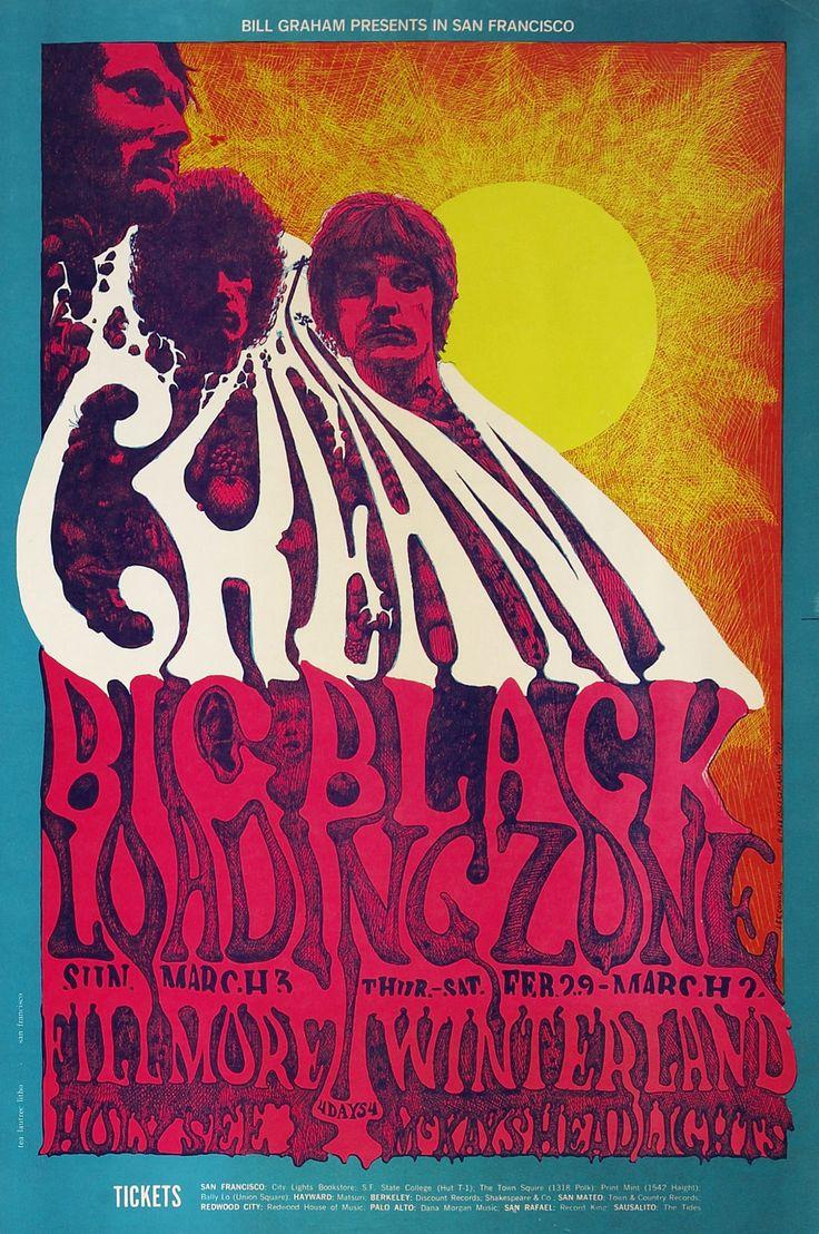 Cream - Psychedelic Concert Poster / Gig Poster / Winterland & Fillmore San Francisco