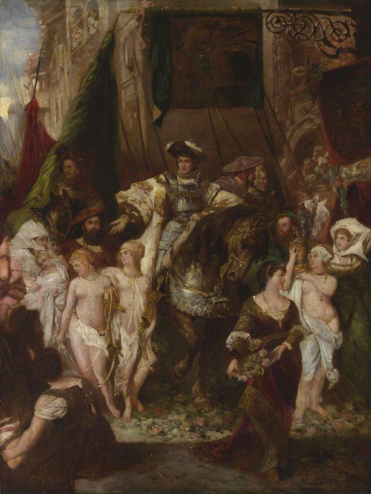 Hans Makart, Triumfální příjezd Karla V. do Antverp, [kolem 1878]