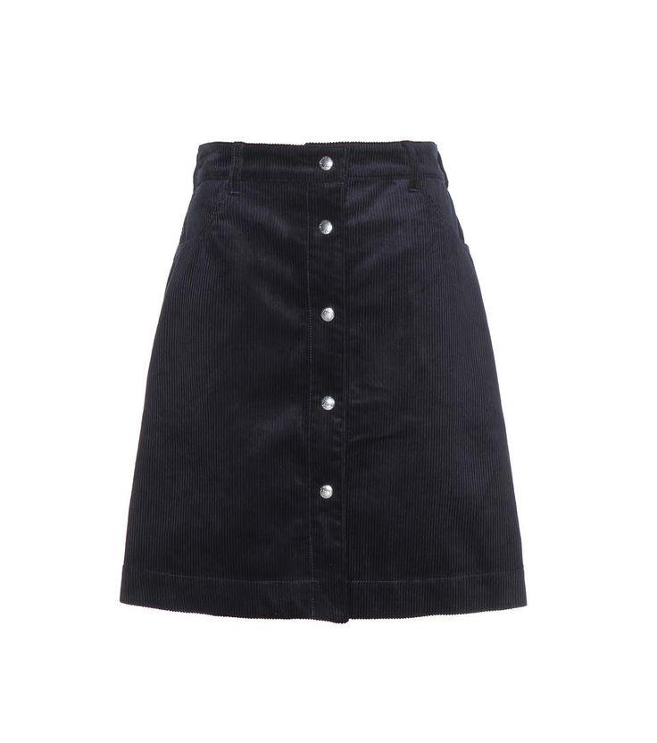 MAISON KITSUNÉ Corduroy A-line skirt. #maisonkitsuné #cloth #skirts