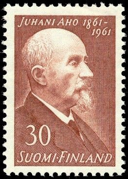 Postage stamp depicting Finnish writer Juhani Aho