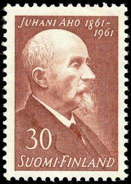 Postage stamp depicting Finnish writer Juhani Aho