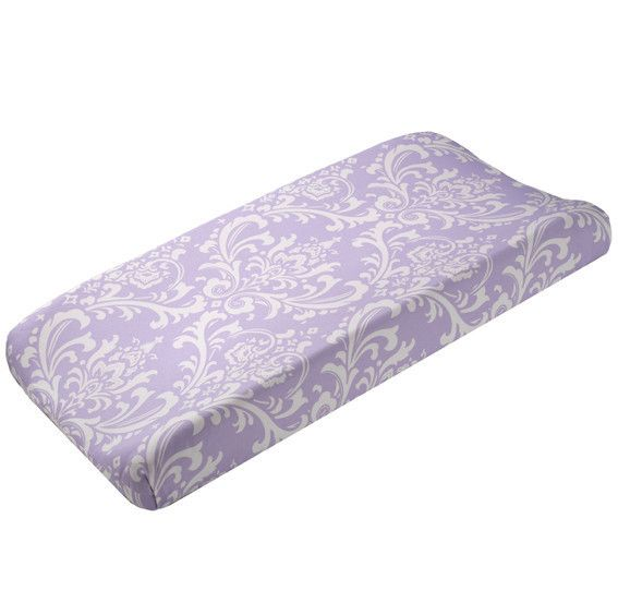 Lavender Changing Pad | Baby Girl Nursery | Purple Baby Bedding | Liz and Roo Fine Baby Bedding