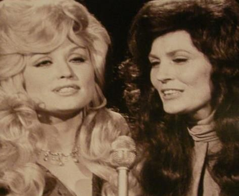Dolly Parton & Loretta Lynn  2 of my father in law's favorites!