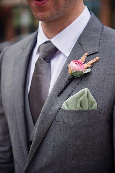 We love the handkerchief in the pocket look!