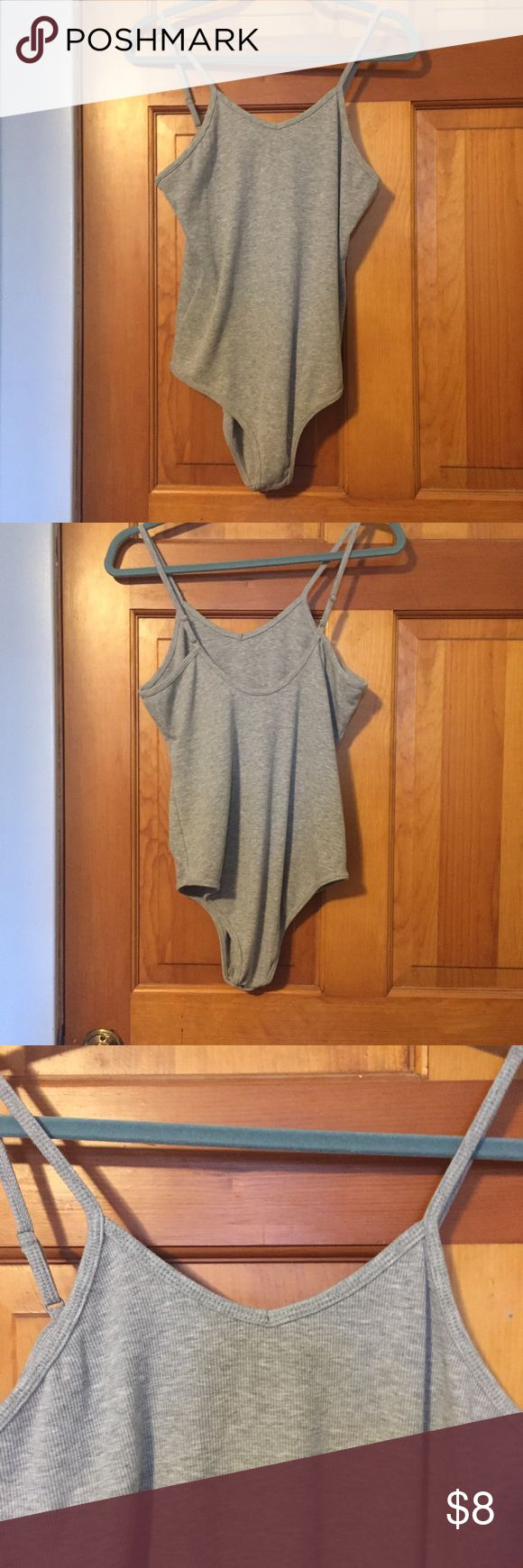 Weekend Soul gray ribbed bodysuit (size XL) Weekend Soul gray ribbed bodysuit. Leotard. Size XL. Comfortable and stretchy. Snaps at the crotch. Weekend Soul Tops Tank Tops