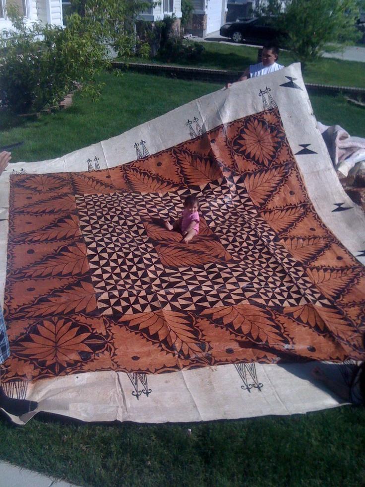 Tonga Tapa Cloth... Ngatu Fuatanga...wvc.ut