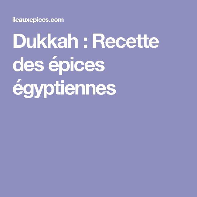 Dukkah : Recette des épices égyptiennes