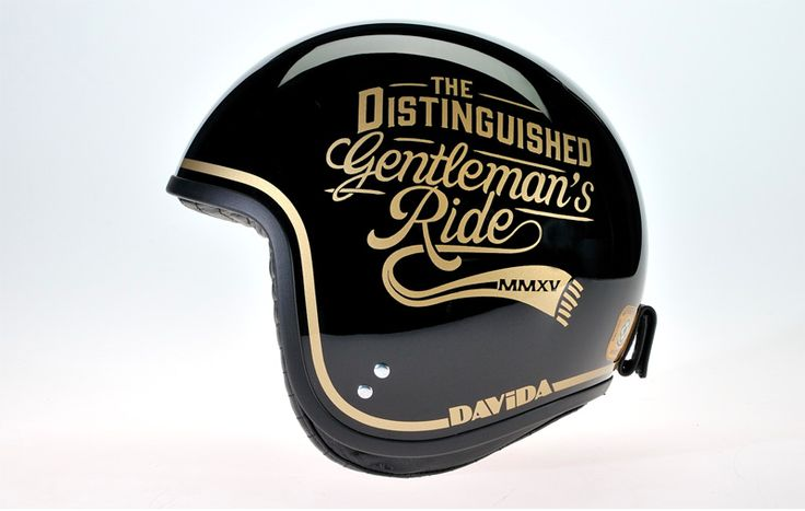 """Así de chulos están los cascos que Davida personalizó para los organizadores de """" The Distinguished gentleman's Ride """". Cascos únicos..."""