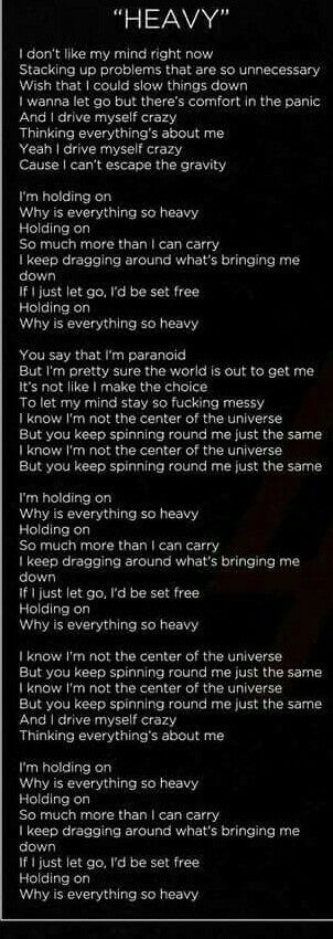 Heavy lyrics by linkin park- love this song