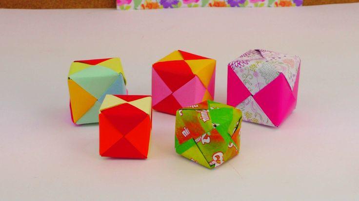 ORIGAMI WÜRFEL DIY / Cube Origami Tutorial How To / Würfel Falten Anleit...