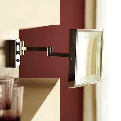 Magnifying Mirror Get a closer look while shaving or applying makeup with this wall-mounted mirror from WS Bath Collections. The solid brass construction, LED light, and 3X magnification make it a valuable addition to the pampering bath.   Luxury Bathroom Ideas - 10 Touches for Style and Comfort - Bob Vila