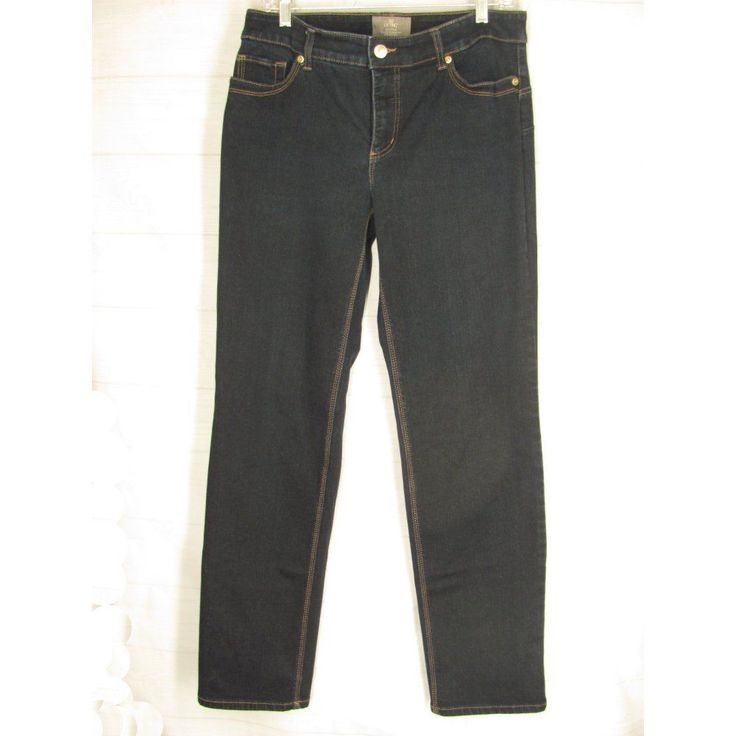 Chicos Jeans 1.5 Size 10 Stretch So Lifting Denim Pants Low Rise Straight 32x31 #Chicos #StraightLeg