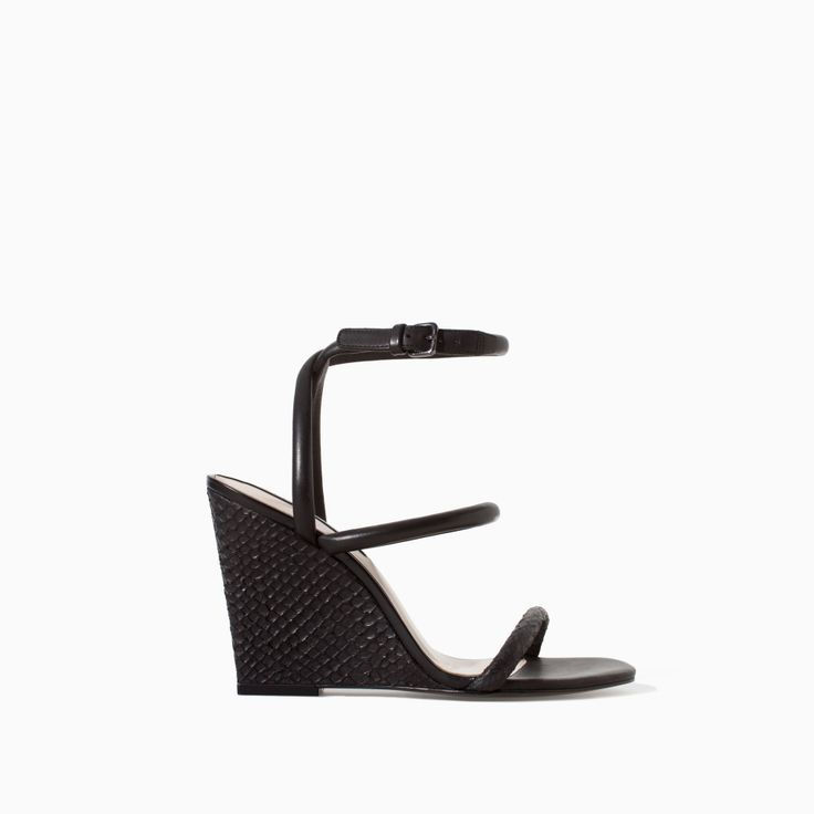 細帶皮坡跟鞋 - 鞋款 - 女士 | ZARA 台灣