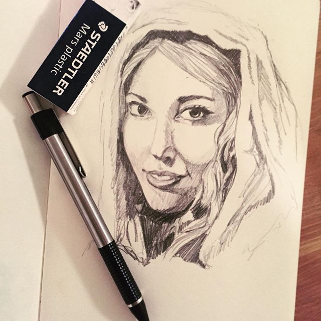 Another Bible character sketch from the Imitate Their Faith book. I've loved the chapters about Esther. #jw #jwart #moleskine #sketch