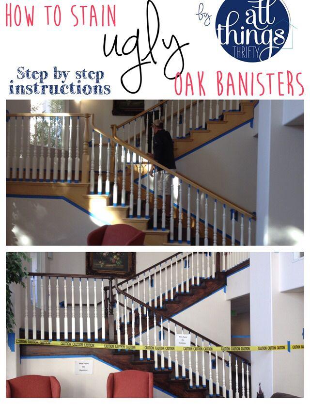 Staining oak banisters | Oak banister, Banister remodel ...