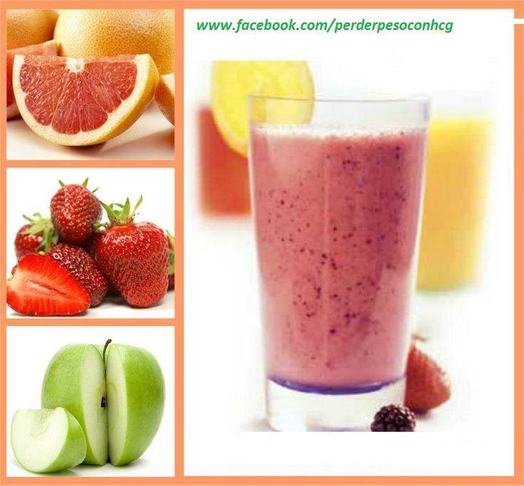 JUGO PARA ADELGAZAR: Ingredientes: •Media taza de fresas •Una pera •Una manzana •El zumo de una naranja •El zumo de una toronja •El zumo de un limón •Dos cucharadas de salvado de avena Dos cucharadas de harina de linaza