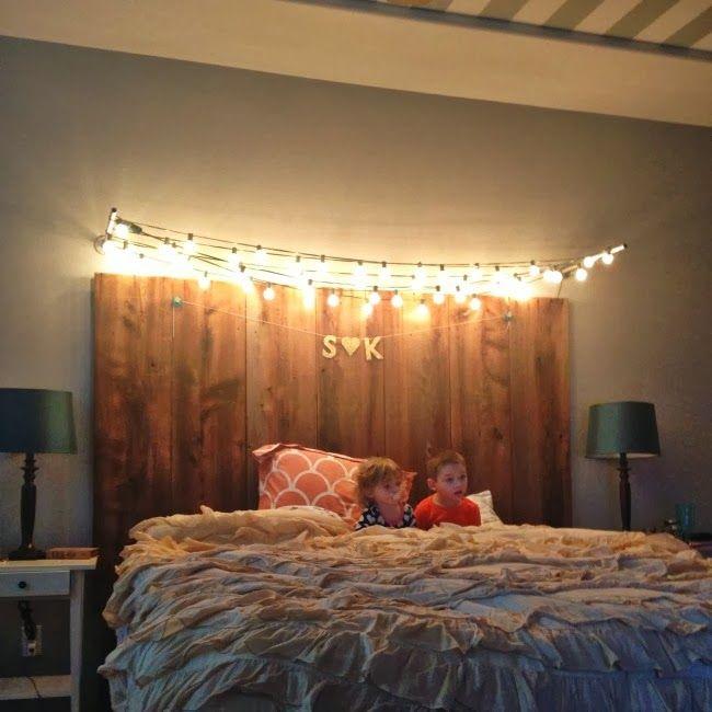 1000+ ideas about Headboard Lights on Pinterest Barn wood headboard, Apartment bedroom decor ...