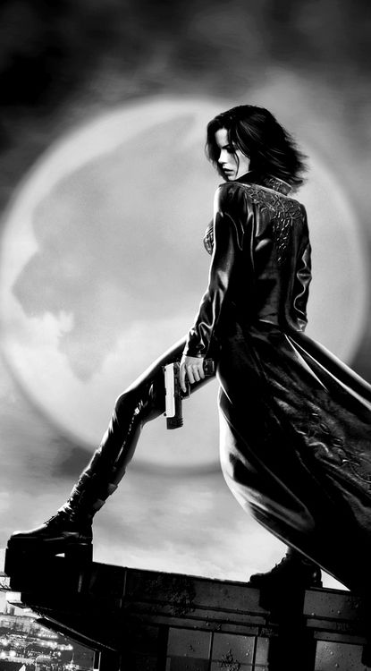 Action / Adventure Movies: Selene - Underworld. I'm liking the idea of Grace being a vampire who is also a hunter, as opposed to a human vampire hunter.