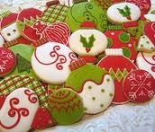 More ornament cookies!