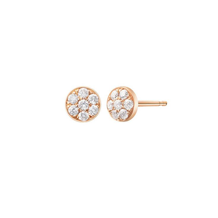 Gemnel fashion silver small round fancy pave tiny stud earring for women 2017
