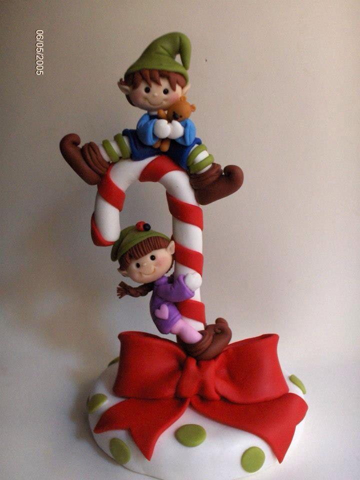 Porcelana fria polymer clay pasta francesa masa flexible fimo fondant gum paste topper modelado modelling figurine christmas xmas navidad pascua natal