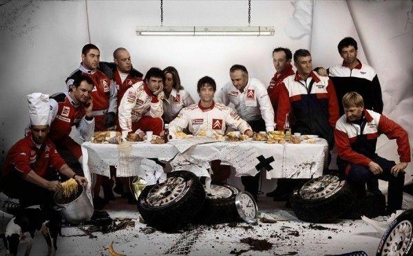 L'équipe de Sébastien Loeb revisite La Cène
