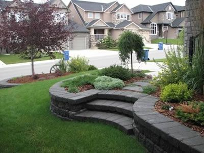 Sloped Paver Amp Rock Path Rundle Steps With Pavers 1