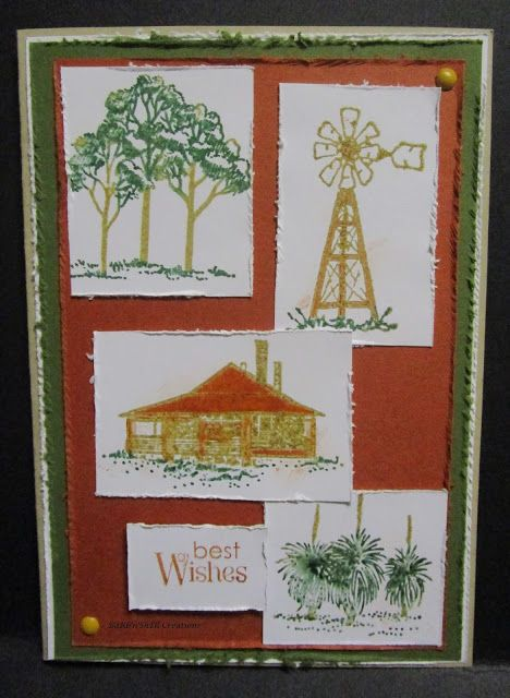 BaRb'n'ShEll Creations  -Australian Outback Card - made by Shell